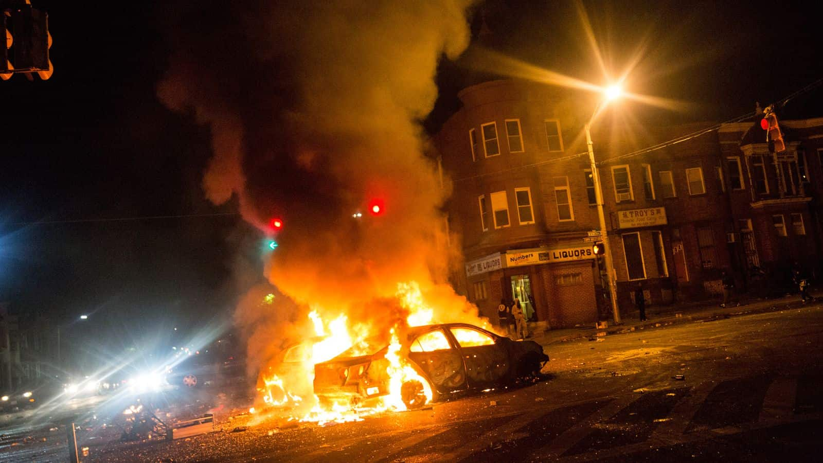 DEPOSIT AND DESTRUCTION IN A RIOT